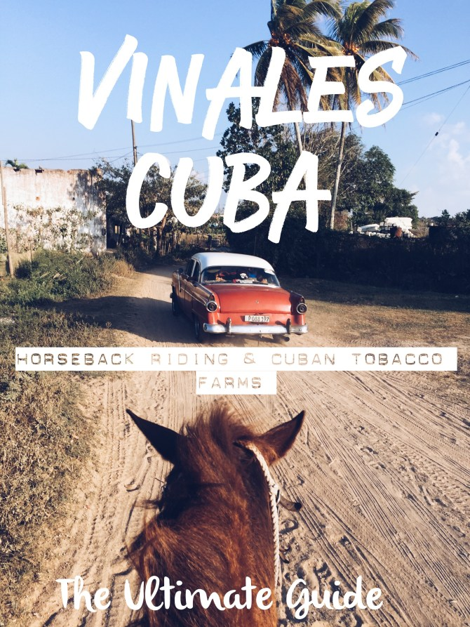 Viñales is the countryside of Cuba and located about 111 miles away from Havana. In a car, it can take you between 3hr-3.5hr to get there and by bus, I believe 4hrs, maybe more. The roads in Cuba aren't the best, so be prepared for a bumpy ride.
