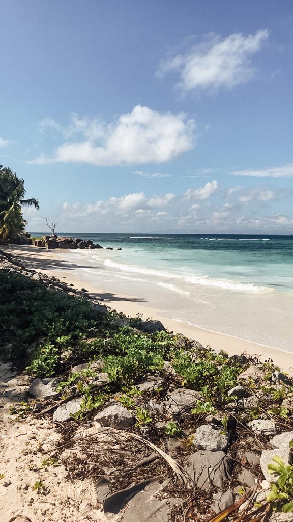 Beach on Praslin