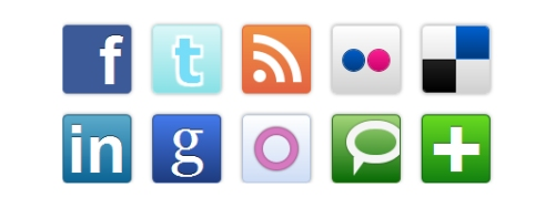 Pure CSS Social Media Icons