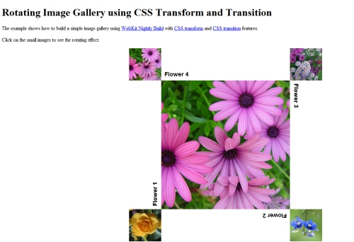 Rotating Image Gallery Using CSS Transform and Transition