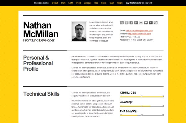 HTML Resume Templates To Help You Land A Job Pixelpush