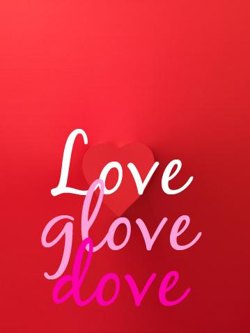 Love glove dove