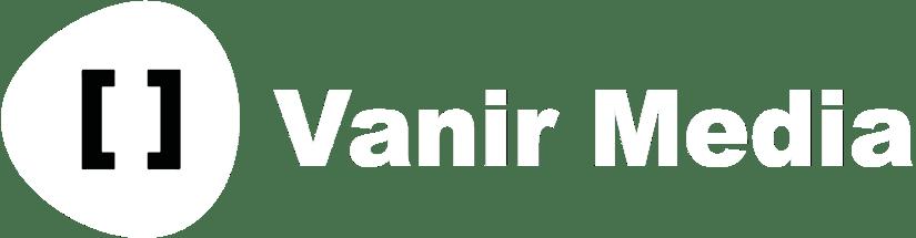 Vanir Media white logo.
