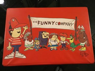 THE FUNNY COMPANY CARTOON TV SHOW ATTACHÉ CASE FRONT SIDE