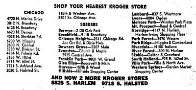 Kroger locations 1968