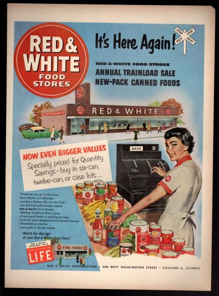 red & white foods store