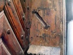 traces of a mezuzah in Lviv (Lwow, Lemberg)