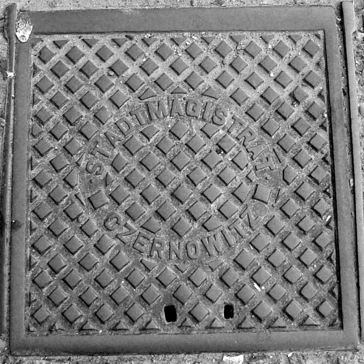 Chernivtsi - manhole from the Austrian periode