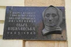 Plaque for Olga Kobylanska
