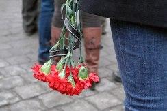 Czernowitz - ceremony for a man killed on Maidan