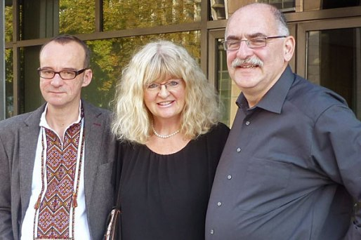 Exhibition opening, Cologne, September 17, 2014. I, Marion Tauschwitz, Edgar Hauster. Photo: Marion Tauschwitz