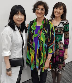 Vanita Dahia with Yuri and Keiko Japanese translators