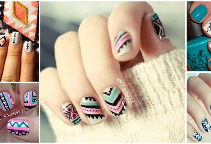 Nail Art Tribal Vanitech By Nina