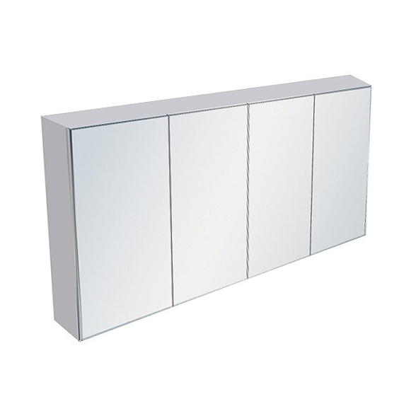 1500mm White Gloss Polyurethane Mirror Shaving Cabinet