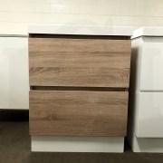 ASTRA Slimline 600mm White Oak Timber Look Wood Grain Vanity with Polymarble Top-12