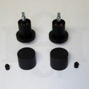 Matte Black Short Lollipop Round Taps-12