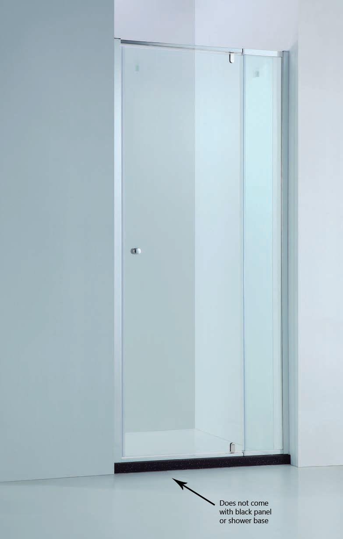 850 980mm Adjustable Wall To Wall Semi Frameless Pivot Glass Panel Shower Screen