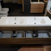 ASTI-1500mm-Walnut-Oak-Timber-Wood-Grain-PVC-THERMOFOIL-Wall-Hung-Double-Vanity-252931965290-4