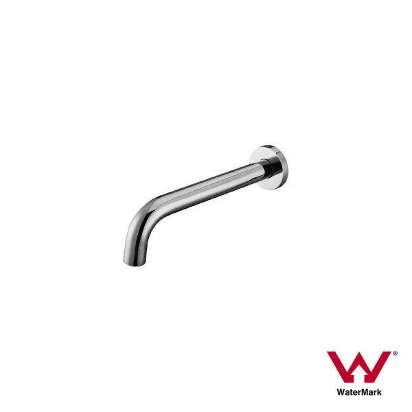 FOSCA-Round-CHROME-Designer-Gooseneck-Curved-Wall-Mounted-Spout-Water-Outlet-253297214640