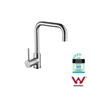 FOSCA | Round Polished Chrome Mid Rise 360° Swivel Sink Mixer