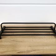 Solid-Brass-MATTE-BLACK-Square-Double-Shelf-Multi-Storage-Towel-Rack-Rail-Holder-252663570470-10