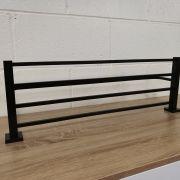 Solid-Brass-MATTE-BLACK-Square-Double-Shelf-Multi-Storage-Towel-Rack-Rail-Holder-252663570470-4