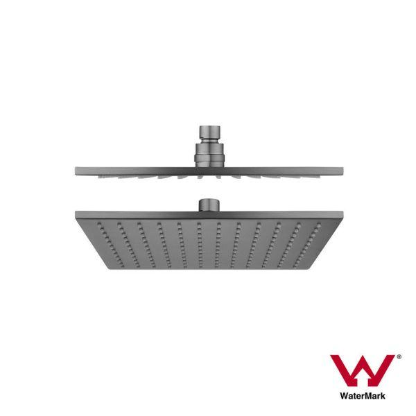 10-250mm-Square-Brushed-Gun-Metal-Grey-Solid-Brass-Rainfall-Shower-Head-254481940361