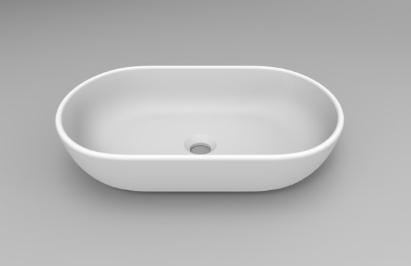 Oval-Oblong-Matt-White-Solid-Surface-Stone-Thin-Edge-Above-Counter-Art-Basin-254139303972