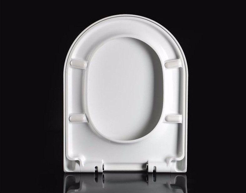 Round DShape Duraplast Heavy Duty Soft Close Quick Release White Toilet Seat  Homegear Australia