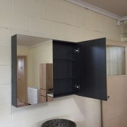 Variation-of-900mm-Timber-Oak-or-Black-Wood-Grain-Wall-Hung-Mirror-ShavingMedicine-Cabinet-252523595362-534d