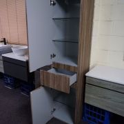 1680mm-White-Oak-Timber-Wood-Grain-Bathroom-Tallboy-Side-Cabinet-w-Glass-Shelves-252942799223-4