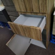 1680mm-White-Oak-Timber-Wood-Grain-Bathroom-Tallboy-Side-Cabinet-w-Glass-Shelves-252942799223-7