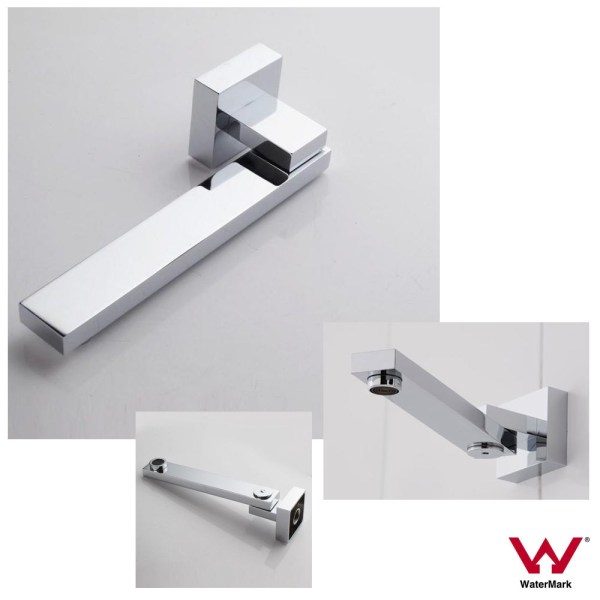 Chrome-Cube-Square-180-Swivel-Wall-Mount-Spout-Bath-Sink-Basin-Water-Outlet-252656030753