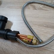 Matte-Black-Round-Gooseneck-Pull-Down-Flexi-Spray-Lollipop-Kitchen-Mixer-252953282813-5