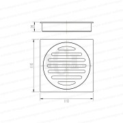 Premium-Electroplated-Square-Matte-Black-Floor-Waste-Grate-Drain-253110696373-2