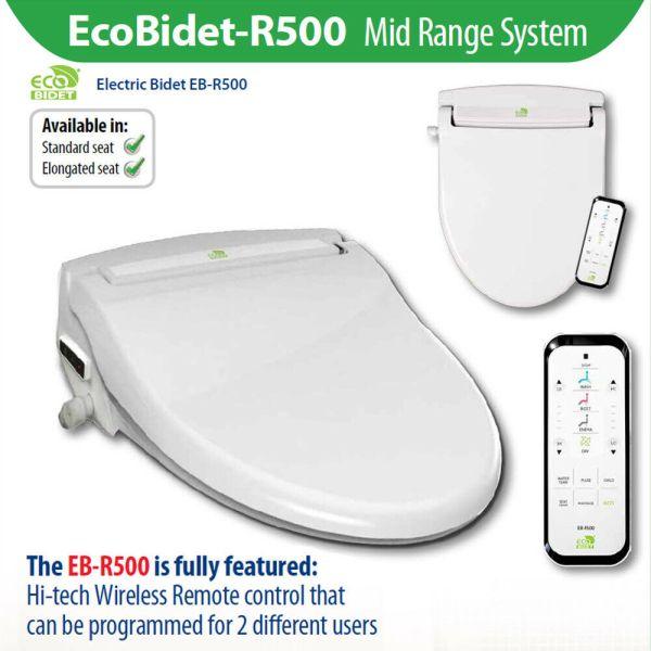 EcoBidet-R500-Warm-Water-Electric-Bidet-Japanese-Toilet-Seat-w-Wireless-Remote-254558005664