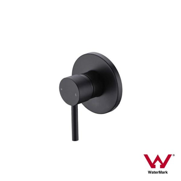 FOSCA-Round-MATTE-BLACK-Lollipop-Pin-Lever-Wall-Mount-ShowerBath-Mixer-252846607554