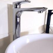 Polished-Chrome-Tall-High-Rise-Bathroom-Basin-Sink-Mixer-TapSolid-BrassCeramic-252537167434-6