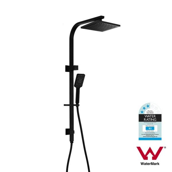 Premium-Square-Matte-Black-Multi-Function-Twin-Shower-Rail-Set-w-Hand-Shower-253116005384