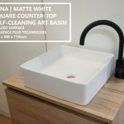 Square-MATTE-WHITE-Self-Cleaning-Thin-Edge-Designer-Vessel-Counter-Top-Art-Basin-253789337445