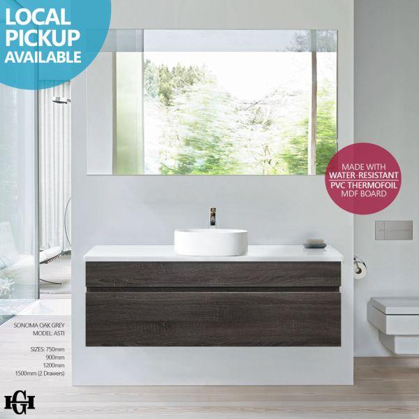 ASTI-1200mm-Sonoma-Oak-Grey-PVC-Thermal-Foil-Wood-Grain-Wall-Hung-Vanity-w-Stone-252596450106