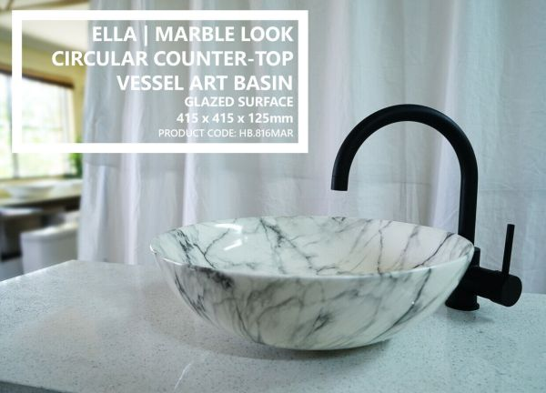 ELLA-415mm-Round-Circle-Marble-Look-Solid-Ceramic-Above-Counter-Bowl-Basin-Sink-254130736076