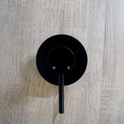 FOSCA-Premium-Grade-Round-Lollipop-Matte-Black-Ultra-Slim-Wall-Shower-Bath-Mixer-253198834546-3