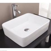 Rectangle-ART-BASIN-Above-Counter-BATHROOM-VANITY-SQUARE-Bowl-Ceramic-Porcelain-252330666686