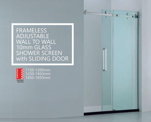 Premium-Adjustable-Wall-to-Wall-Frameless-10mm-Sliding-Glass-Panel-Shower-Screen-252601756627