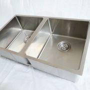 760mm-Double-Bowl-Premium-Grade-Stainless-Steel-Kitchen-Laundry-Sink-Round-Waste-253530954798-5