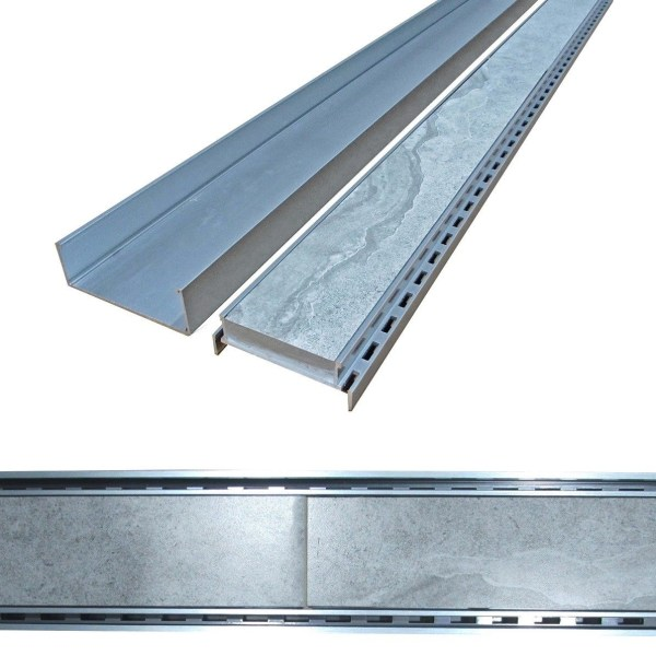 900mm-LAUXES-Cellini-Aluminium-Silver-Slimline-Tile-Insert-Floor-Drain-Waste-253221990848-4