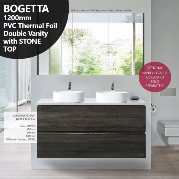 BOGETTA-1200mm-Sonoma-Oak-Grey-PVC-THERMAL-FOIL-Wood-Grain-Double-Vanity-w-Stone-252958600568