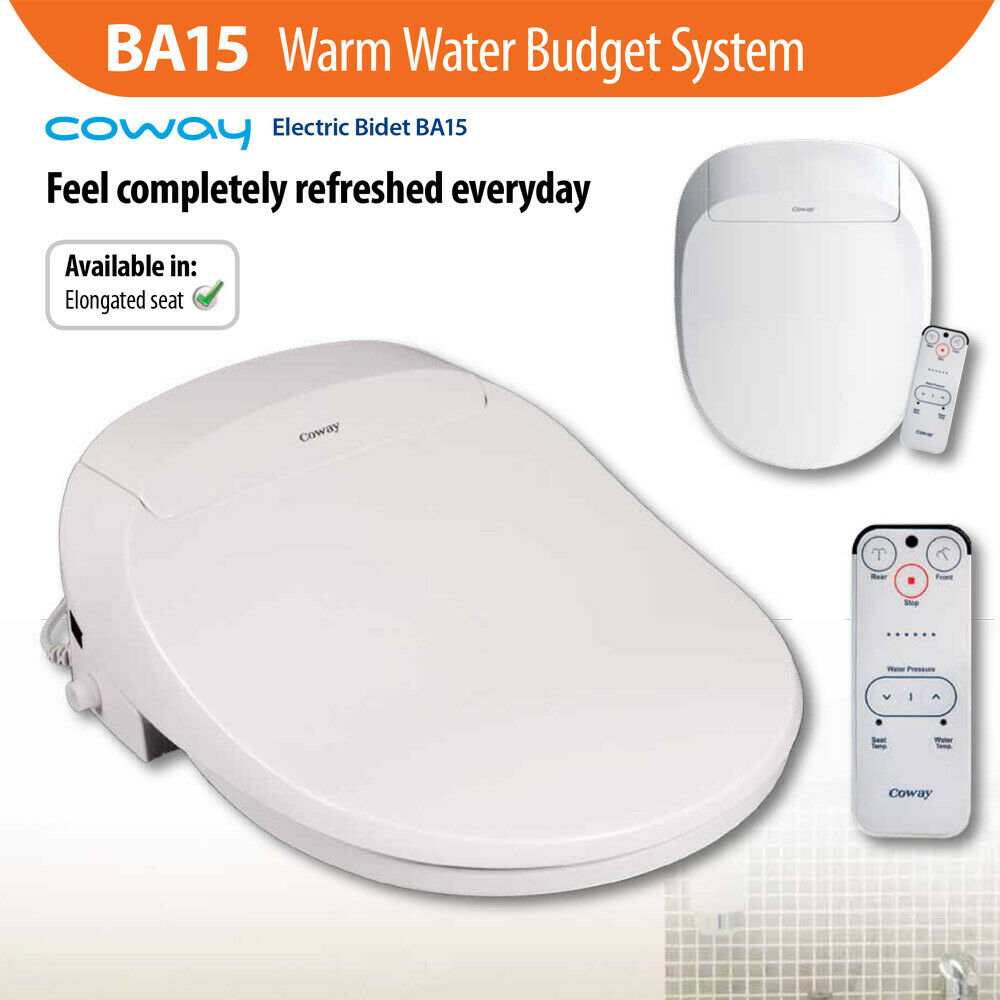 Coway Ba15e Warm Water Electric Bidet Japanese Style Toilet Seat System Homegear Australia