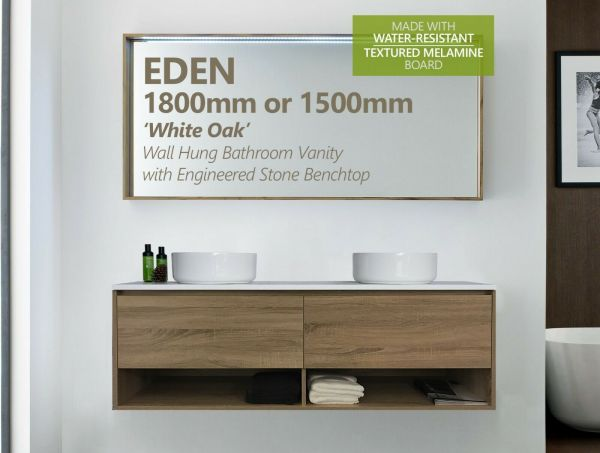 EDEN-1500mm-1800mm-White-Oak-Timber-Wood-Grain-Vanity-w-Towel-Shelf-Stone-Top-254161834618